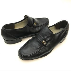 Florsheim Imperial 11E Black Leather Dress Loafers